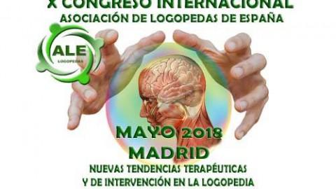 CONGRESO INTERNACIONAL, Asociación de Logopedas España, 18/19 MADRID.