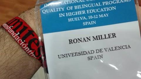 Ronan Miller en la Universidad de Huelva